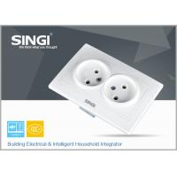 Electric light Wall Switch Socket / Europe Double wall socket Manufactures