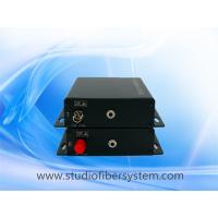 fiber optic stereo audio to 3.5mm converter for 1 ch 3.5mm broadcast stereo audio over fiber extenders to 10~120KM Manufactures