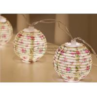 Buy cheap Flower Battery Operated Paper Lantern String Lights 7.5 Cm Energy Saving Led Party Decor from wholesalers