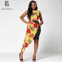 Dashiki style  African Print  Dress midi length round collar  Mosaic  100% wax cotton Manufactures