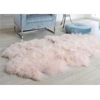 Pink Curly Hair Extra Large Sheepskin Rug Comfortable Anti Shrink For Home Floor Manufactures