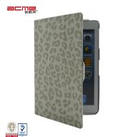 China Leopard print PU leather portfolio case cover for Apple ipad mini, 360 rotary swivel stand on sale