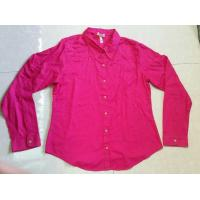 China wholesale solid color women blouse ,autumn tops, Career's office ladies shirts stock lots on sale