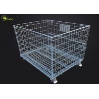Logistics Turnover Box Collapsible Storage Shelves Wire Mesh Metal Pallet Cage for sale