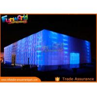 PVC Coated Nylon Inflatable Cube Tent With Led Lighting / Blow Up Event Tent Manufactures