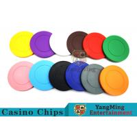 Roulette Dedicated Solid Color Plastic Poker Chips With Customized Print Logo