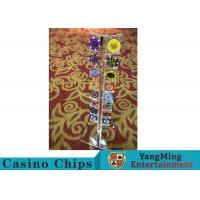 Casino Acrylic Poker Chips Case Casino Chips Carrier For Round 40 - 42mm Chips Manufactures