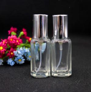 China glass bottle  perfume atomizer spray bottle recycled glass bottles black  cap plastic on sale