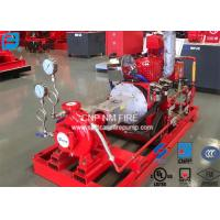 200GPM@155PSI End Suction Centrifugal Pump For Firefighting Red Color Manufactures