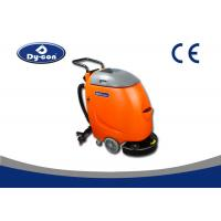 Walk Behind Hard Floor Cleaners Scrubbers , Plastic Material Floor Tile Cleaner Machine Manufactures