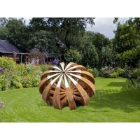 Corten Steel Product Abstract Metal Sculpture Pumpkin Design As Square Decoration Manufactures