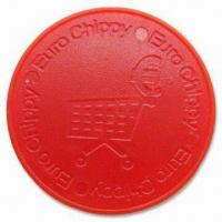 Plastic Trolley Coins, Customized Logos are Welcome, Made of ABS Plastic Manufactures