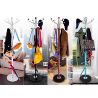 Colorful Clothes Hanger Stand , Umbrella Bag Hat And Coat Stand With Marble Base Manufactures