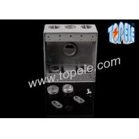 China Weatherproof Electrical Boxes Two Gang Outlet Branch Circuit Wiring on sale