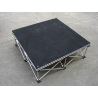 China Drum Riser Bundle 1 X 1 Stage Aluminum Alloy Modular Stage Table Black / Red Plywood on sale