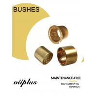 Cylindrical Bushes Bronze Plain Sleeve Bearings With Grease Reservoirs Oil Holes Manufactures