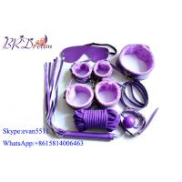 Purple male bondage devices Restraints Alternative Sex Toy Set 7 Piece Adult Game Toy Manufactures