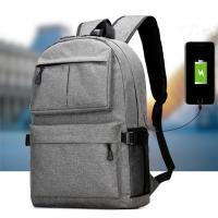 Waterproof Oxford Men'S College Backpacks For Laptop  USB Charging Interface Manufactures