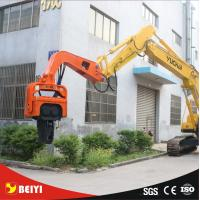 China Beiyi V300 hydraulic static pile driver equipment 65mm demolition hammer screw pile driver on sale