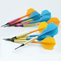 China Brass House Darts With 1/4 Soft Tips and 1/4 Shafts and Flight on sale