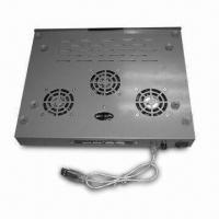 Laptop Cooler, Built-in 3 Fans, 4-port USB Hub, Made of Iron Material, Available in Silver Color Manufactures