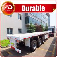 China Cheap 3 axle 40ft or 20ft used trailer container flatbed truck trailer and semi trailer container for sale wholesale
