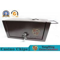Slimline Universal Metal Casino Money Drop Box With Sleeve & Locks For Poker Table Manufactures