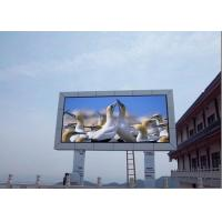 China Clear P10 Outdoor Full Color Post screen Led Display Billboard , Large Led Screen For Advertisement on sale