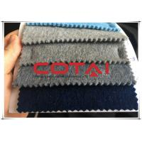 Buy cheap Blue Gray Long Hair Garment Baby Alpaca Fabric  5% Alpaca 60% Wool 35% Polyester from wholesalers