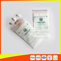 LDPE Clear Medical Ziplock Pill Bags For Hospital / Drugstore Disposable Manufactures