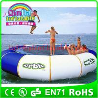 QinDa Hot selling Outdoor Water Sports Games water blob trampoline for sale