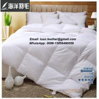China Twin 90% Goose Down Comforter Duvet Insert Down Feather & King Goose Down Pillow on sale