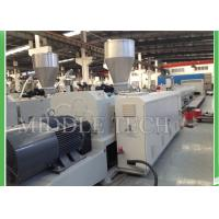 Automatic Conical Plastic Pipe Extrusion Machine 0.8 - 10 M / Min Hauling Speed Manufactures