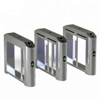 Security Flap Entrance Automatic Turnstiles Electronic Fingerprint High Sensitivity Manufactures