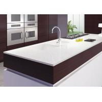 White Glossy Natural Natural Quartz Countertops Cabinet Pre Cut Manufactures