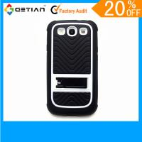 White Scratchproof, Durable UK Style TPU + P Stand Samsung Galaxy S3 Case For Cell Phone Manufactures