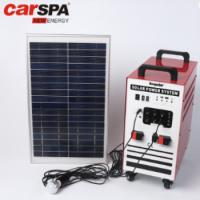 China 100AH Portable Solar Power System Home Use With Power Inverter Solar Panel on sale