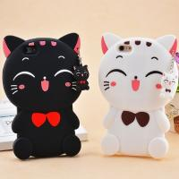 Soft 3d Silicone Lucky Cat Phone Cases For IPhone 6 / 6 Plus Protection Manufactures