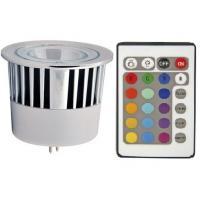 China RGB Multi-Color Changing LED Light Bulb MR16 5W + Remote Controller on sale