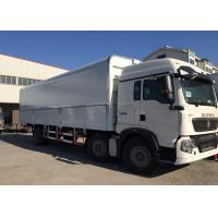 6x4 Heavy Commercial Trucks Euro 2 Open Wing Van Truck For Logistics Manufactures