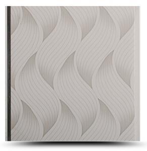 Wave Printed Pvc Bathroom Wall Panels , Waterproof Panel Board For Bathroom Manufactures