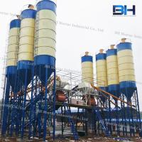 Horizontal Twin Shaft Mixer Batching Plant Low Noise For Construction Site Manufactures