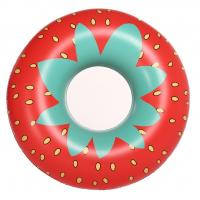 "Giant Strawberry Inflatable Swim Ring 45"" Inflatable Pool Floats with Rapid Valves Manufactures"