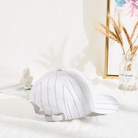 Stripe 6 Panel Embroidered Baseball Caps With Back Closure Manufactures