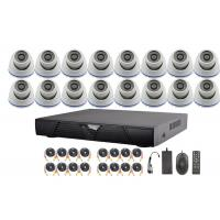 16 Channel AHD DVR Surveillance Video Security Camera Systems With 3.6-16mm Fixed Lens Manufactures