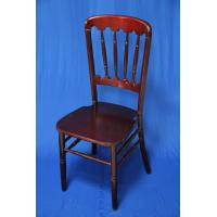 China Burgundy / Dark Black Wooden Chate Chair , Modern UV Resistant Stackable Chair For Banquet / Hotel on sale