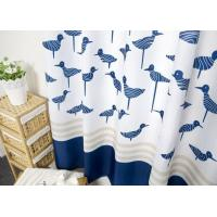Waterproof Printed White Bathroom Shower Curtains Thickening Plated Style Manufactures
