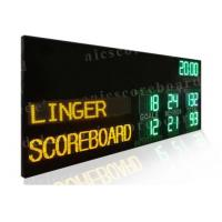 2 Modes Led Cricket Scoreboard , Football Score Board 1200mm X 3600mm X 100mm Manufactures