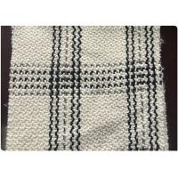 White Tartan Lightweight Wool Fabric For Autumn / Winter / Spring Jacket Channel Style Tweed Manufactures