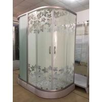 Simple Maple Leaf Shower Cabin With Tray , Bathroom Shower Cubicles Manufactures